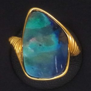 Ring Gelbgold Opal 01